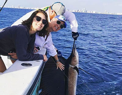 Full day fishing with Capt Jay can land you a nice sailfish